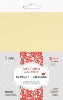 Набор заготовок для открыток №8, ванильный