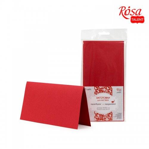 Набор заготовок для открыток №9, красный