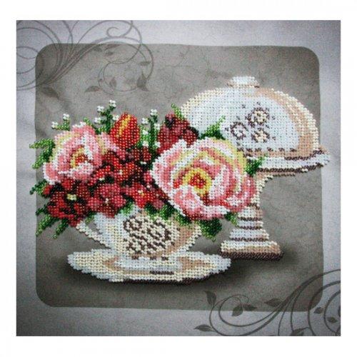 """Ткань с печатью для вышивки бисером """"Винтажный натюрморт"""" Т-0040"""