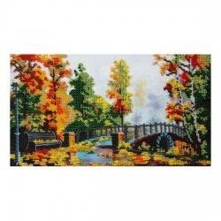 """Ткань с печатью для вышивки бисером """"Осенний мост"""" Т-0182"""