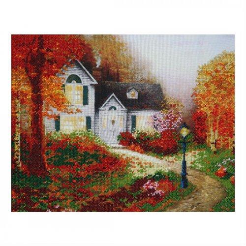 """Ткань с печатью для вышивки бисером """"Багряная осень"""" Т-0185"""