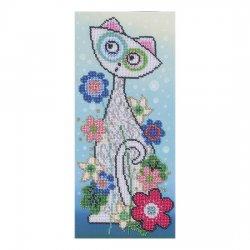 """Ткань с печатью для вышивки бисером """"Котик"""" Т-0137"""