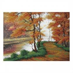 """Ткань с печатью для вышивки бисером """"Осень"""" Т-0061"""