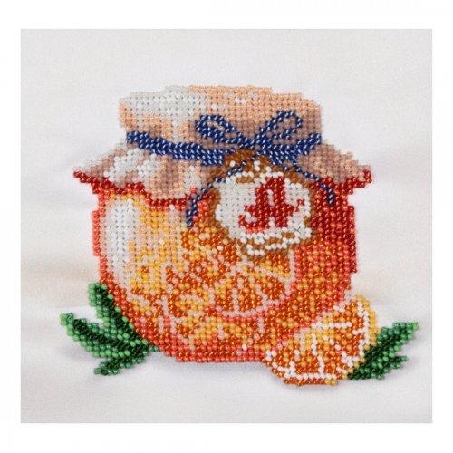 """Ткань с печатью для вышивки бисером """"Апельсиновый джем"""" Т-0585"""