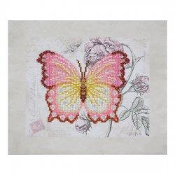 """Ткань с печатью для вышивки бисером """"Бабочка"""" Т-0798"""