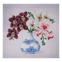 """Ткань с печатью для вышивки бисером """"Цветочный этюд"""" Т-0803"""