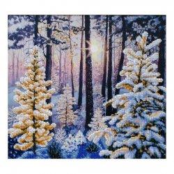"""Ткань с печатью для вышивки бисером """"Зимний рассвет"""" Т-0983"""