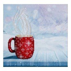 """Ткань с печатью для вышивки бисером """"Горячий кофе"""" Т-0969"""