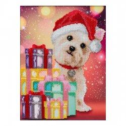 """Ткань с печатью для вышивки бисером """"Новогодние подарки"""" Т-0942"""