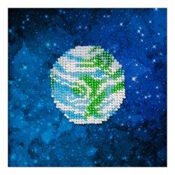 """Ткань с печатью для вышивки бисером """"Земля"""" Т-0933"""