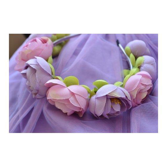 """Обруч """"Розовые пионы"""""""