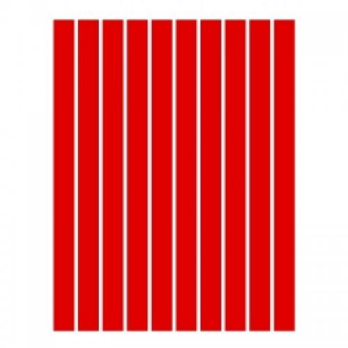 Набор полосок бумаги для квиллинга, красный