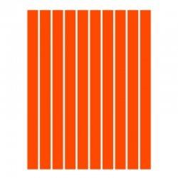 Набор полосок бумаги для квиллинга, оранжевый