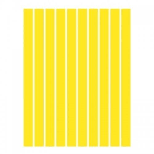 Набор полосок бумаги для квиллинга, желтый интенсив
