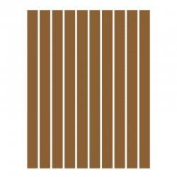 Набор полосок бумаги для квиллинга, коричневый