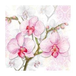 """Декупажные салфетки """"Орхидея"""", 33*33 см, 18,5 г/м2, 20 шт, Abiente"""