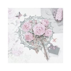 """Декупажные салфетки """"Винтажные розы"""", пастельные, 33*33 см, 17,5 г/м2, 20 шт, ti-flair"""
