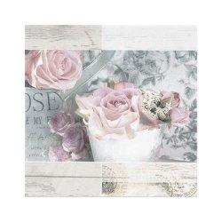 """Декупажные салфетки """"Розы"""", пастельные, 33*33 см, 17,5 г/м2, 20 шт, ti-flair"""