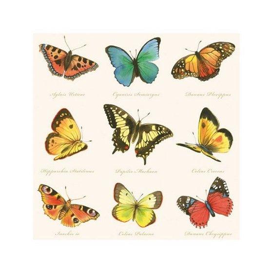 """Декупажные салфетки """"Коллаж из бабочек"""", 33*33 см, 18,5 г/м2, 20 шт, Abiente"""