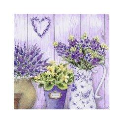"Декупажные салфетки ""Панно цветы"", 33*33 см, 17,5 г/м2, 20 шт, ti-flair"