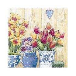 "Декупажные салфетки ""Панно цветы2"", 33*33 см, 17,5 г/м2, 20 шт, ti-flair"