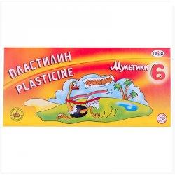 "Пластилин ""Мультики"" 6 цветов"