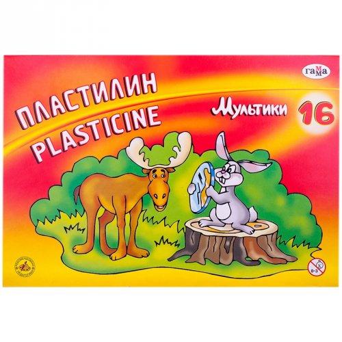 "Пластилин ""Мультики"" 16 цветов"