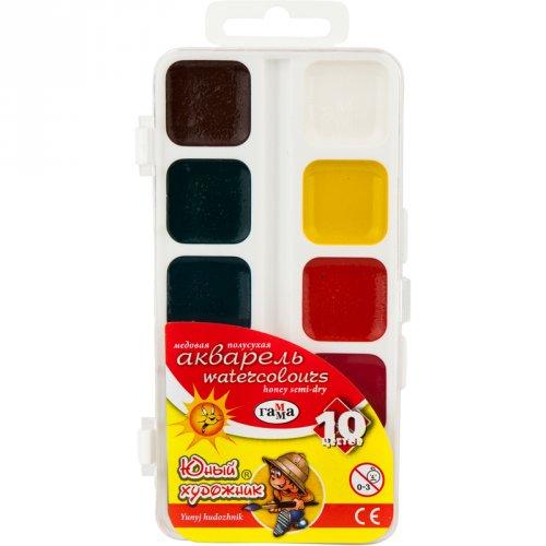 Краска акварельная 10 цветов