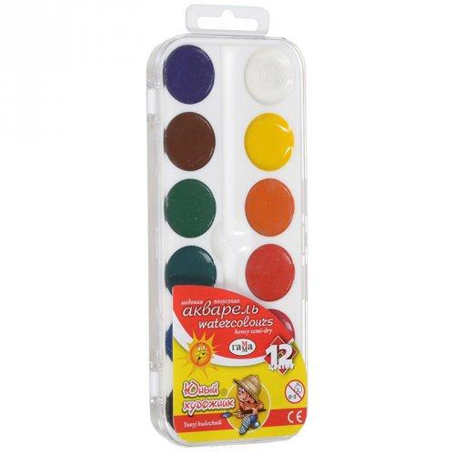 Краска акварельная 12 цветов