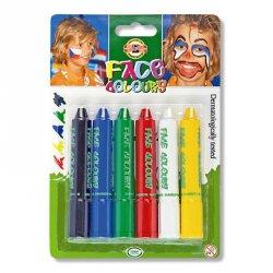 Краски для лица 6 цветов Краски для рисования на коже, не токсичны. Безвредны. 6 цветов KOH-I-NOOR