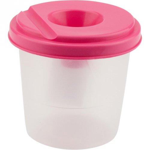 Стакан-непроливайка, розовый