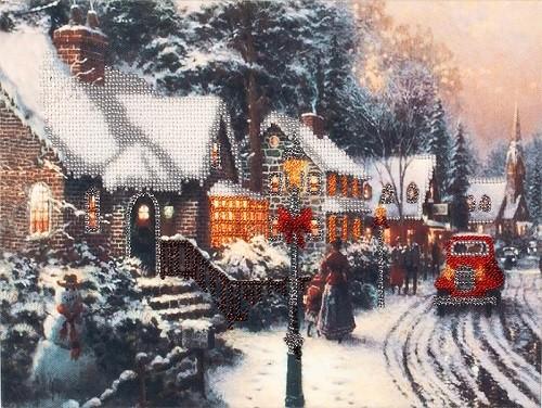 """Набор для вышивки бисером """"Зима в городе"""""""