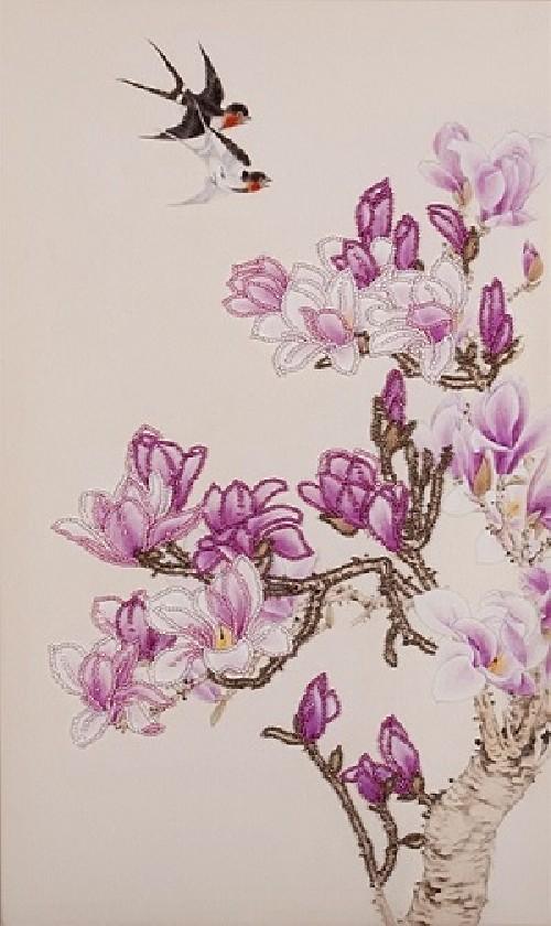 """Набор для вышивки бисером """"Магнолия цветет"""""""