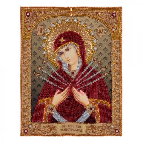 """Набор для вышивания """"вприкреп"""" """"Святая Богородица Семистрельная"""""""