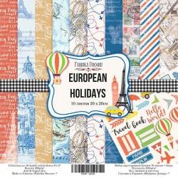 """Набір скраппаперу """"European holidays"""""""