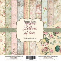 """Набір скраппаперу """"Letters of Love"""""""
